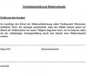 Verzichtserklarung PDF